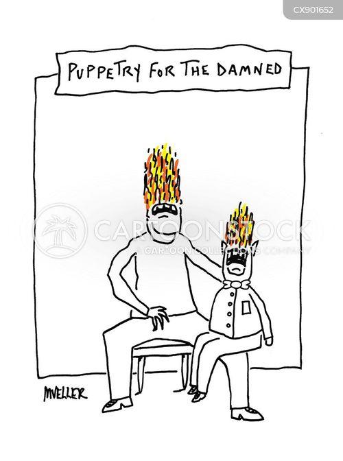 puppeteers cartoon