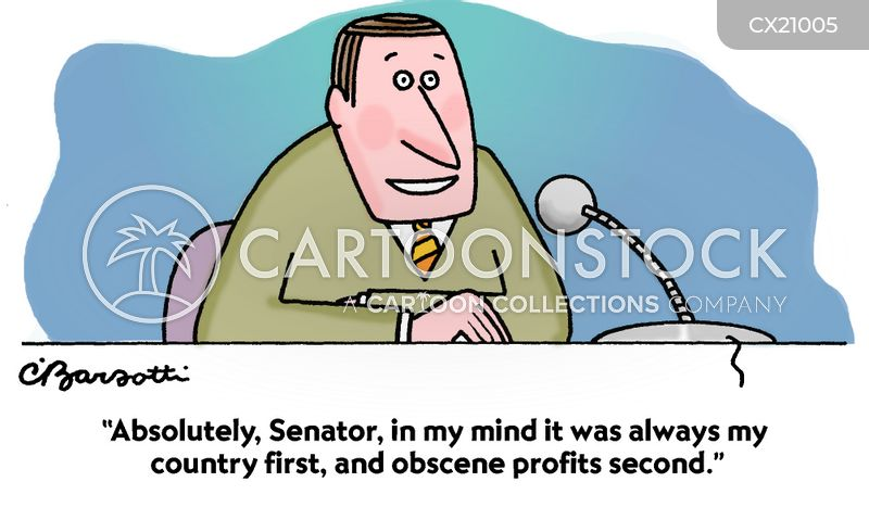 testimony cartoon