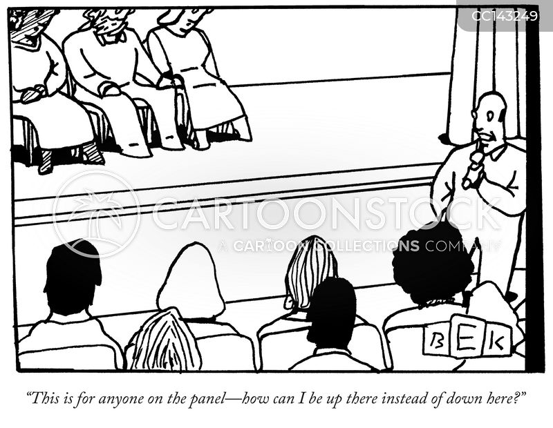 member of the audience cartoon