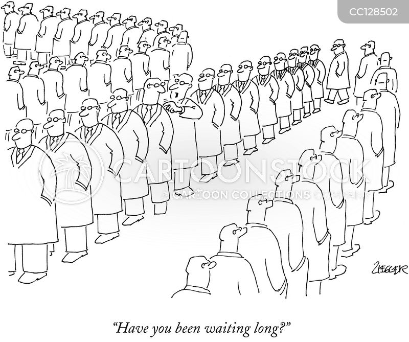 queues cartoon