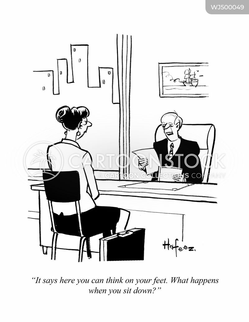 job candidates cartoon