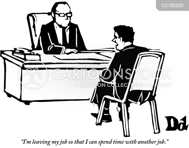 resignation cartoon