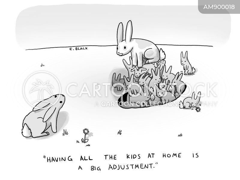 quarantining cartoon