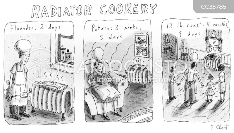 cooking instructor cartoon