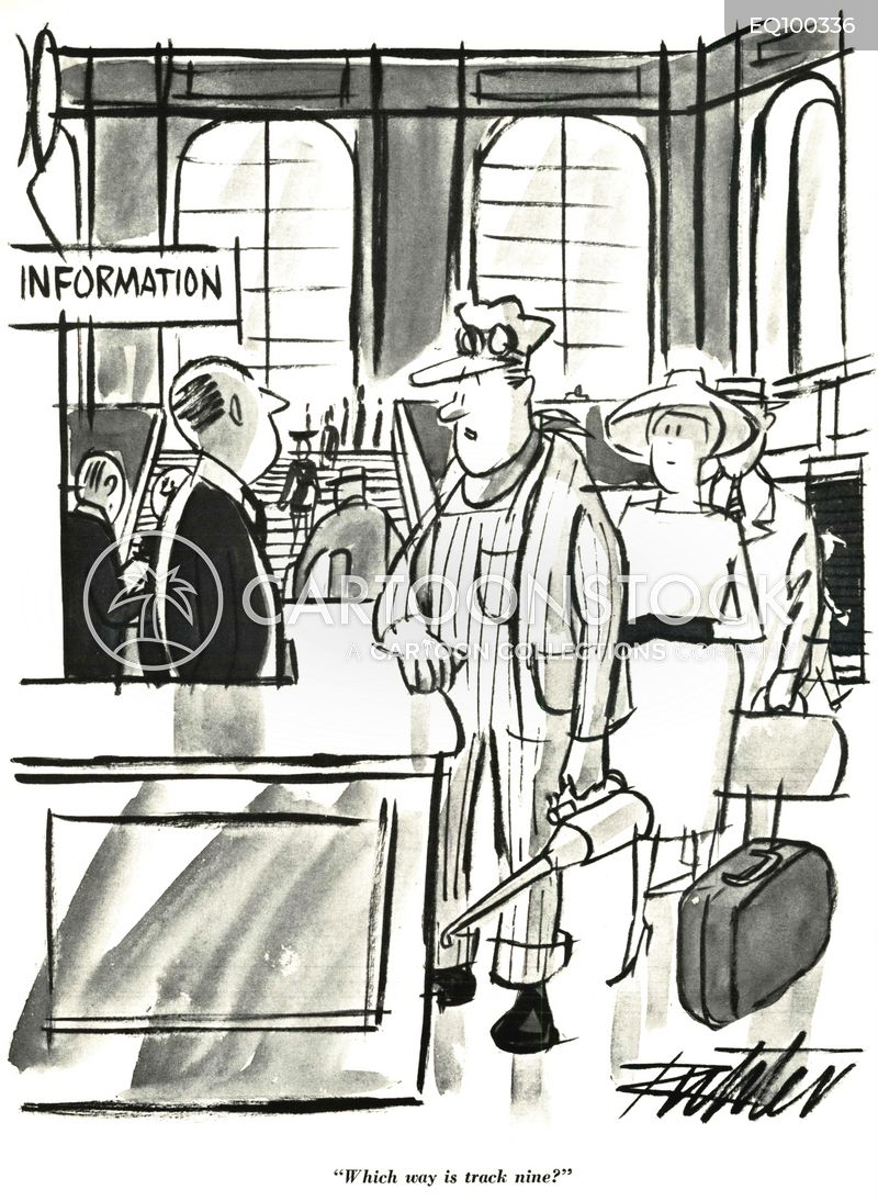 info desks cartoon