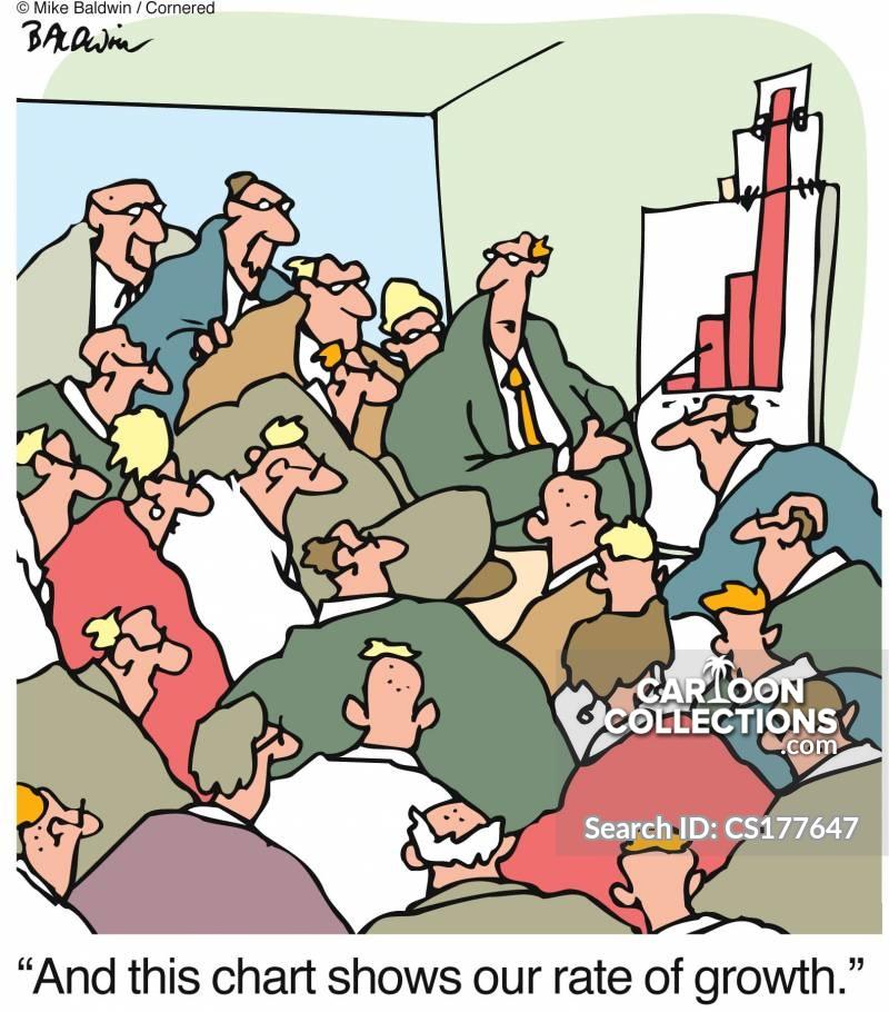 graphs and charts cartoon