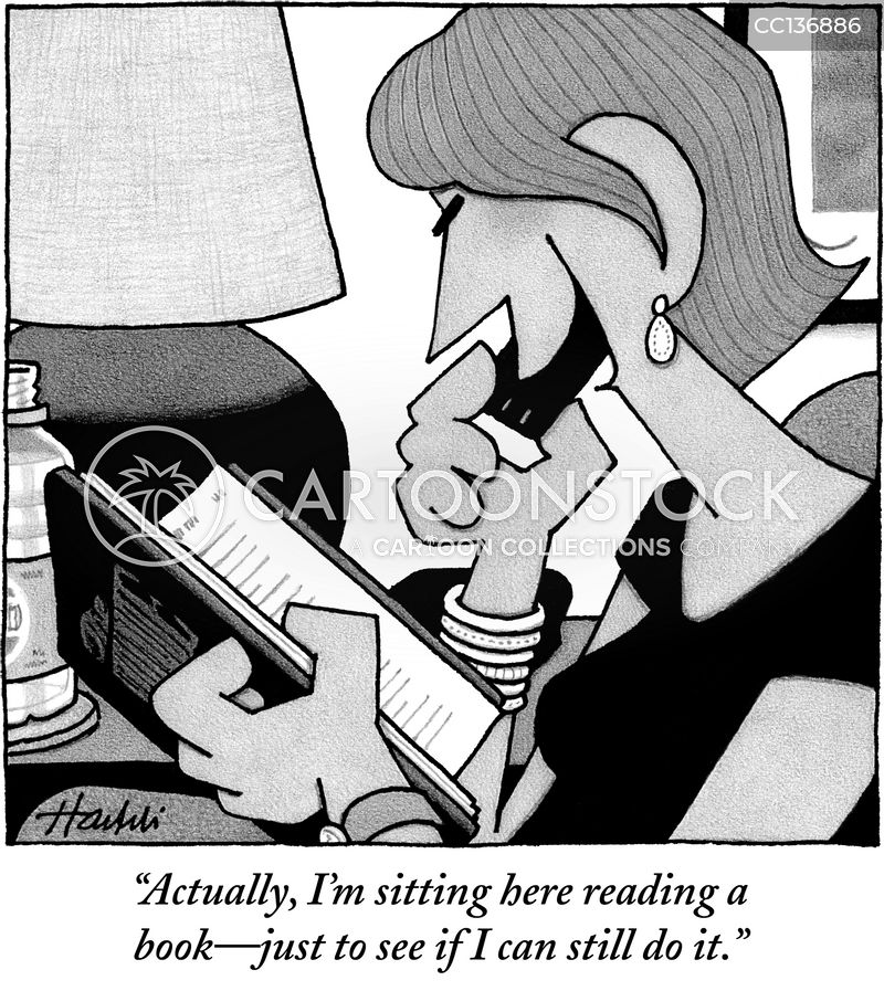 ereaders cartoon