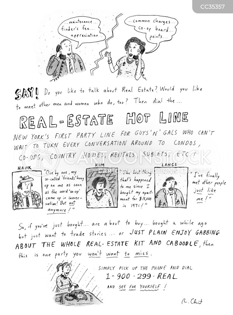 free real-estate cartoon