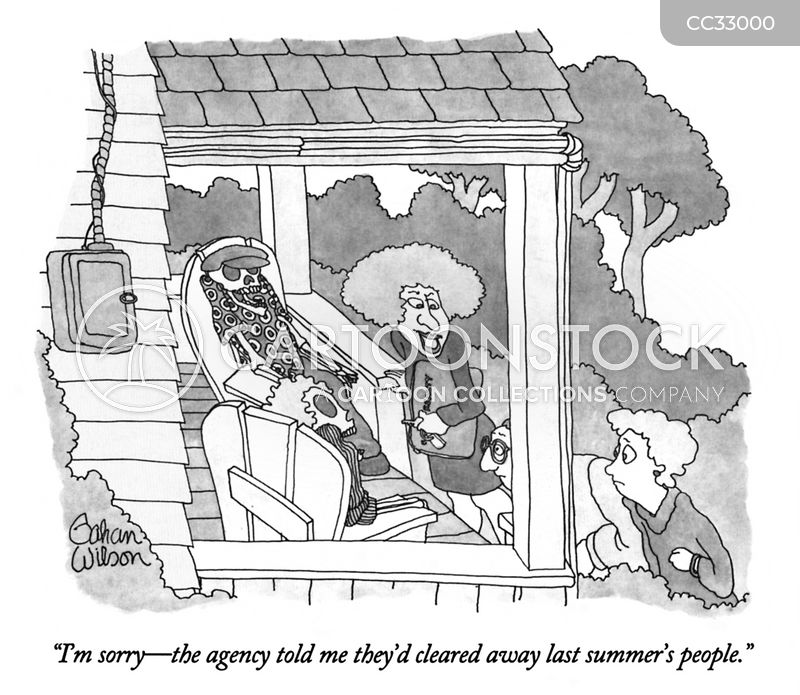 summer houses cartoon