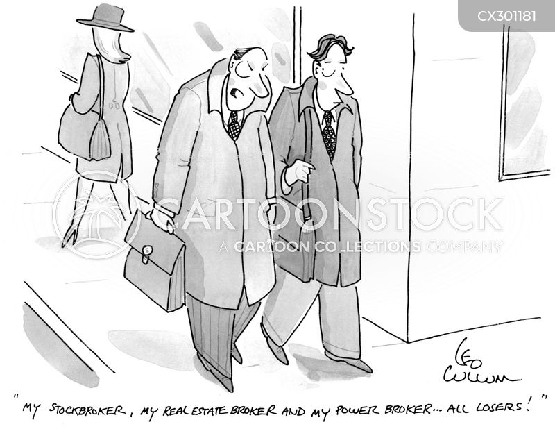 broker cartoon