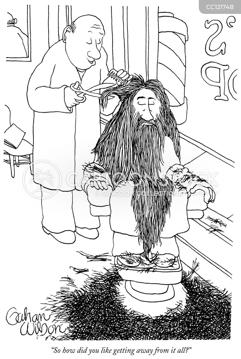 unkempt cartoon