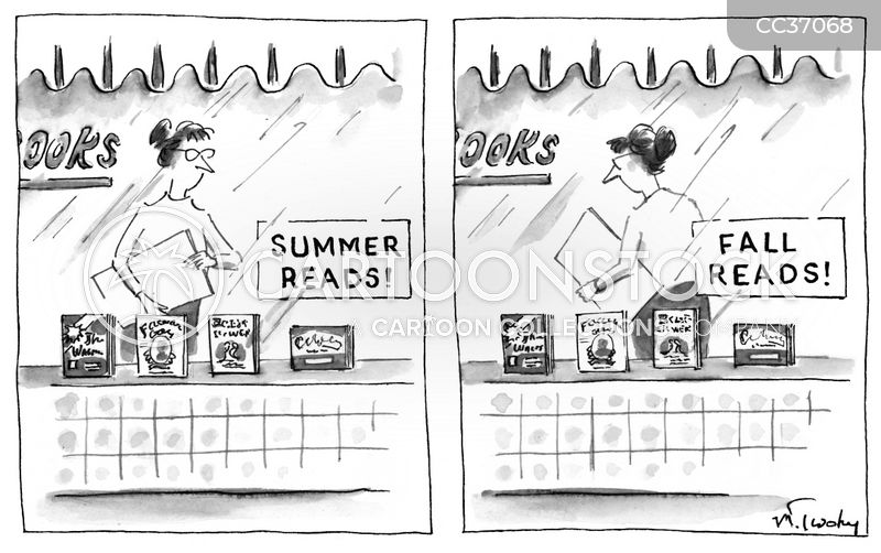 summer reads cartoon