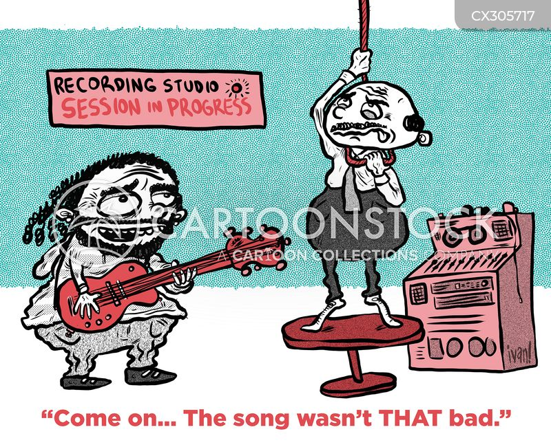 recording studio cartoon