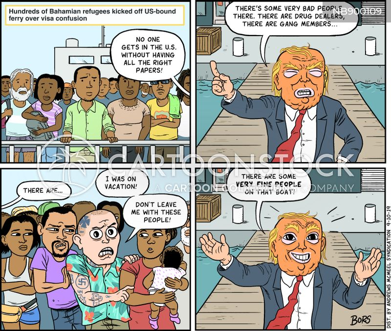 immigration controversies cartoon