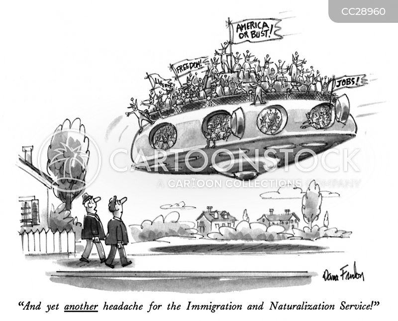 immigrant cartoon