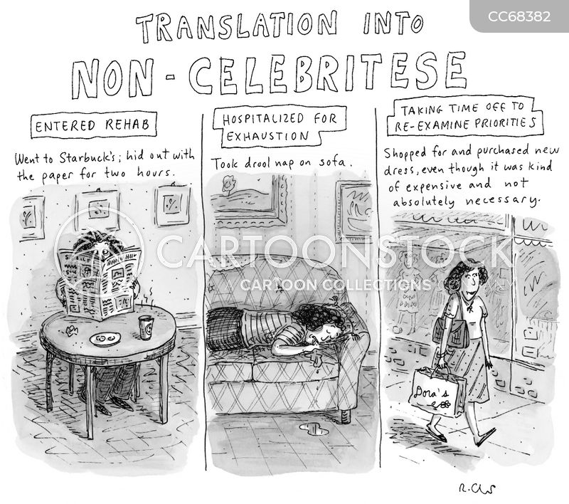 celebrity culture cartoon