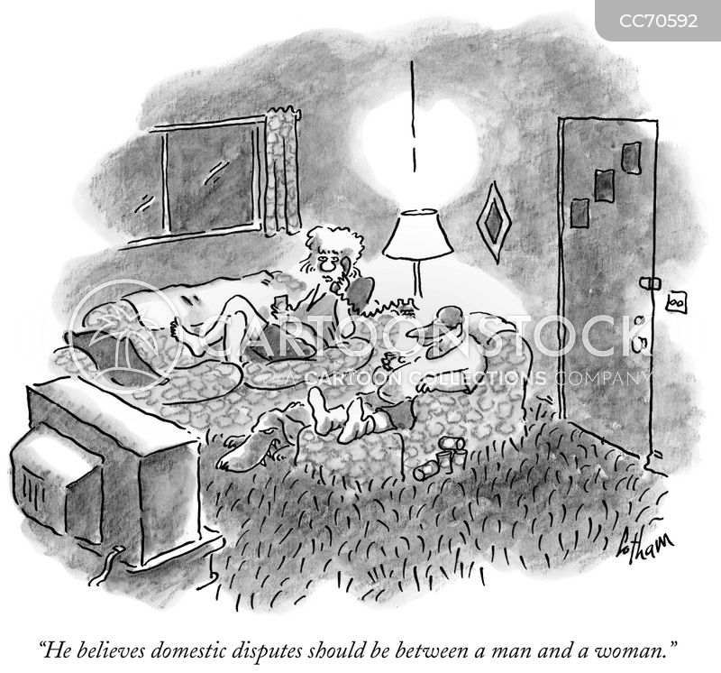 domestic disputes cartoon