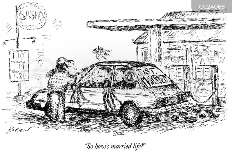 Just Married cartoons, Just Married cartoon, funny, Just Married picture, Just Married pictures, Just Married image, Just Married images, Just Married illustration, Just Married illustrations