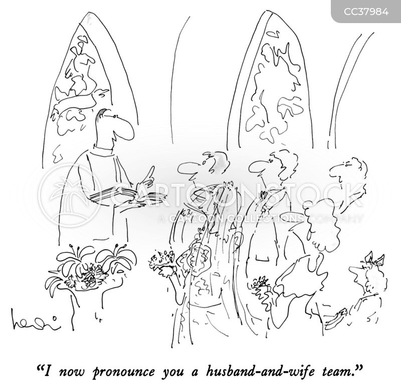 Husband-and-wife cartoon