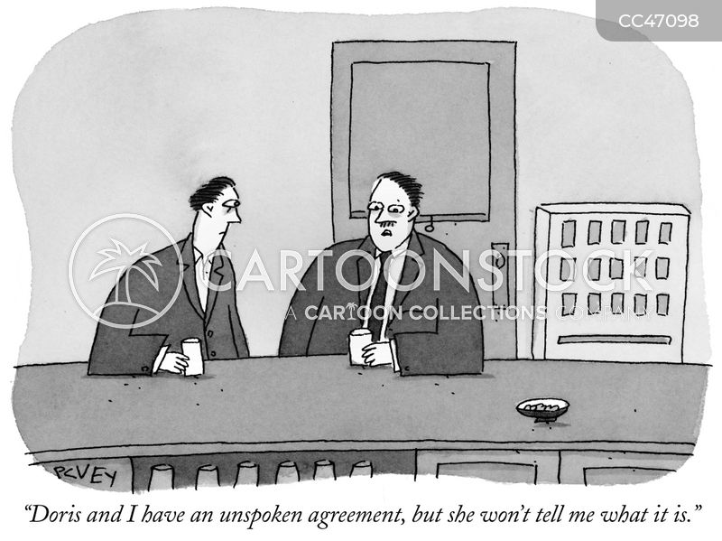 unspoken agreement cartoon