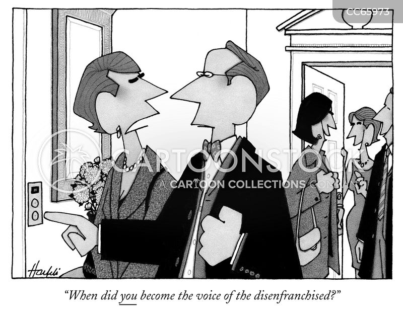 disenfranchise cartoon