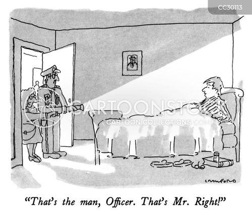 law enforcement cartoon