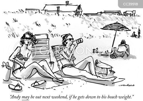 beach body cartoon
