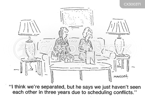 separate cartoon