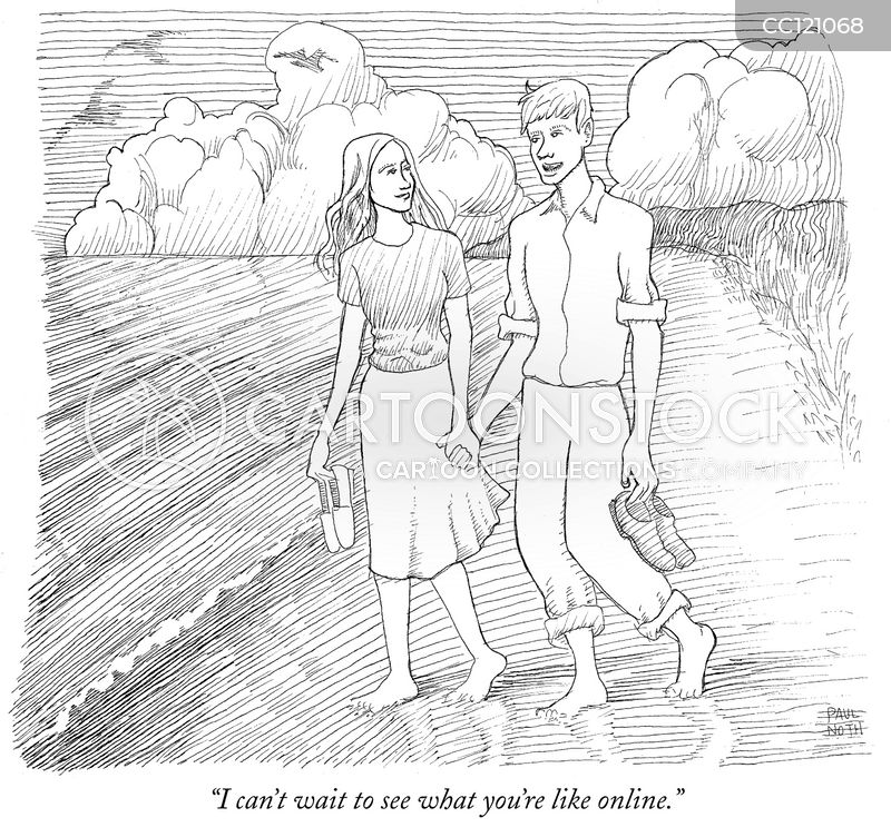 on-line dating cartoon
