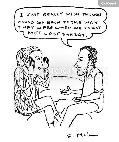 arguing couples cartoon