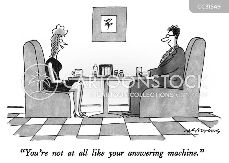 answering machine cartoon