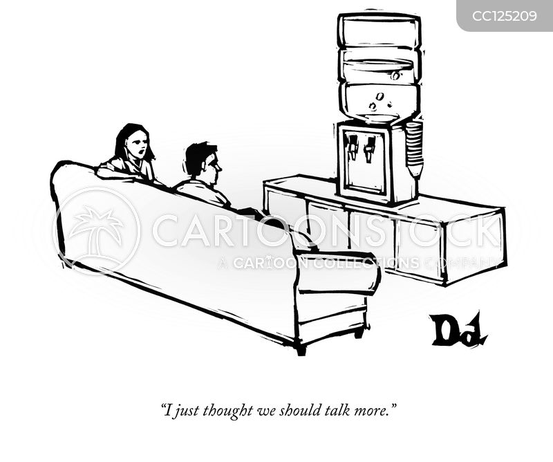 water cooler talks cartoon