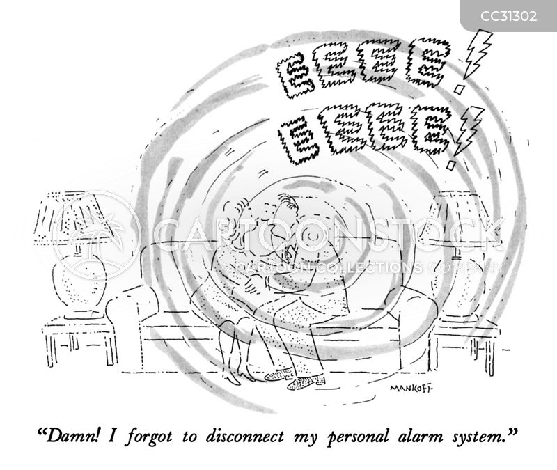 alarm systems cartoon