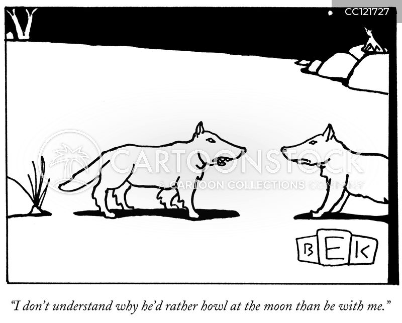 howling cartoon