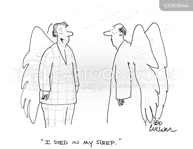 dying in your sleep cartoon