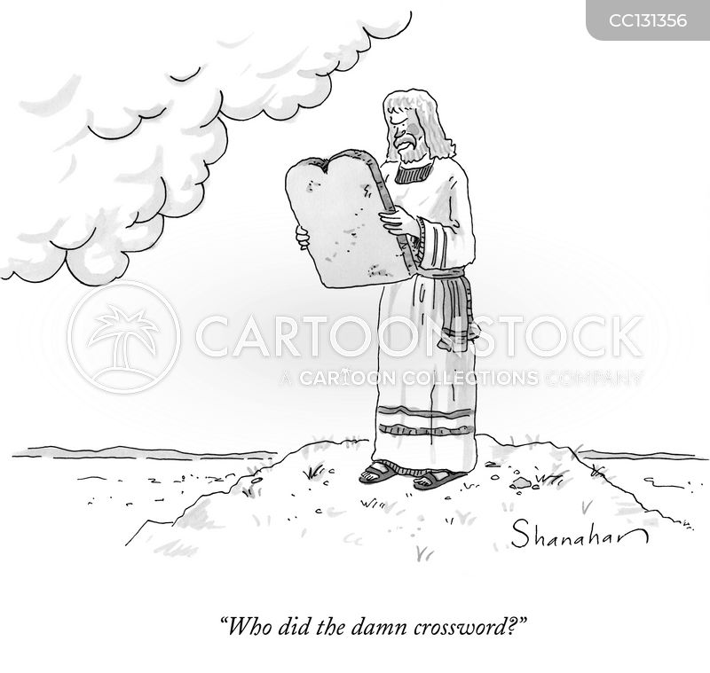 commandments cartoon