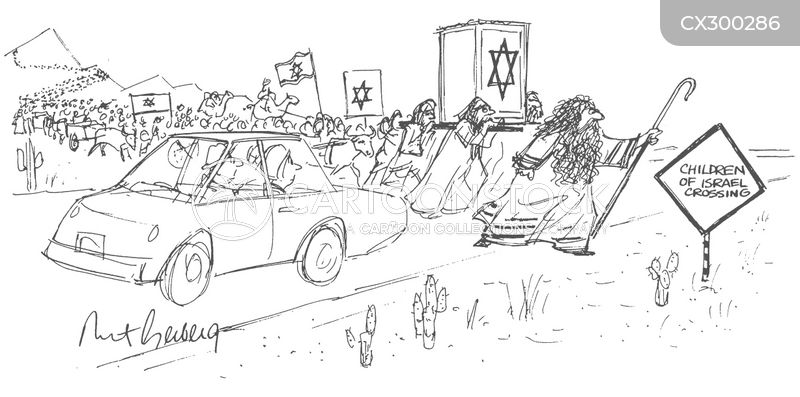 road crossing cartoon