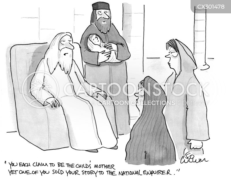 Judgment Of Solomon cartoon