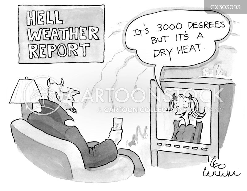 dry heat cartoon