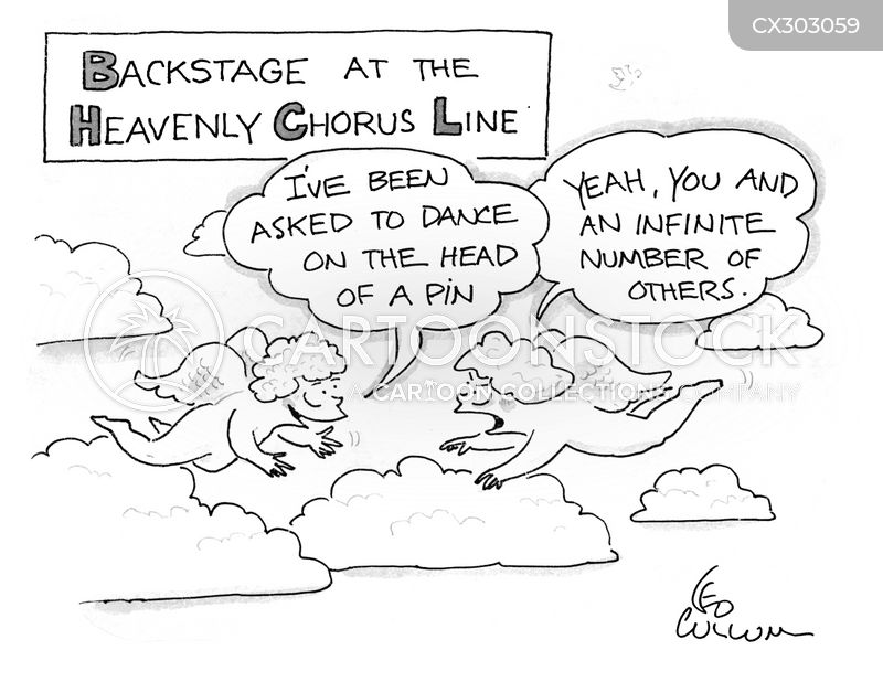 chorus lines cartoon