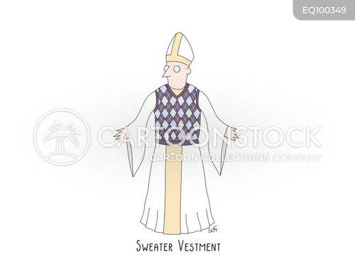 vestment cartoon