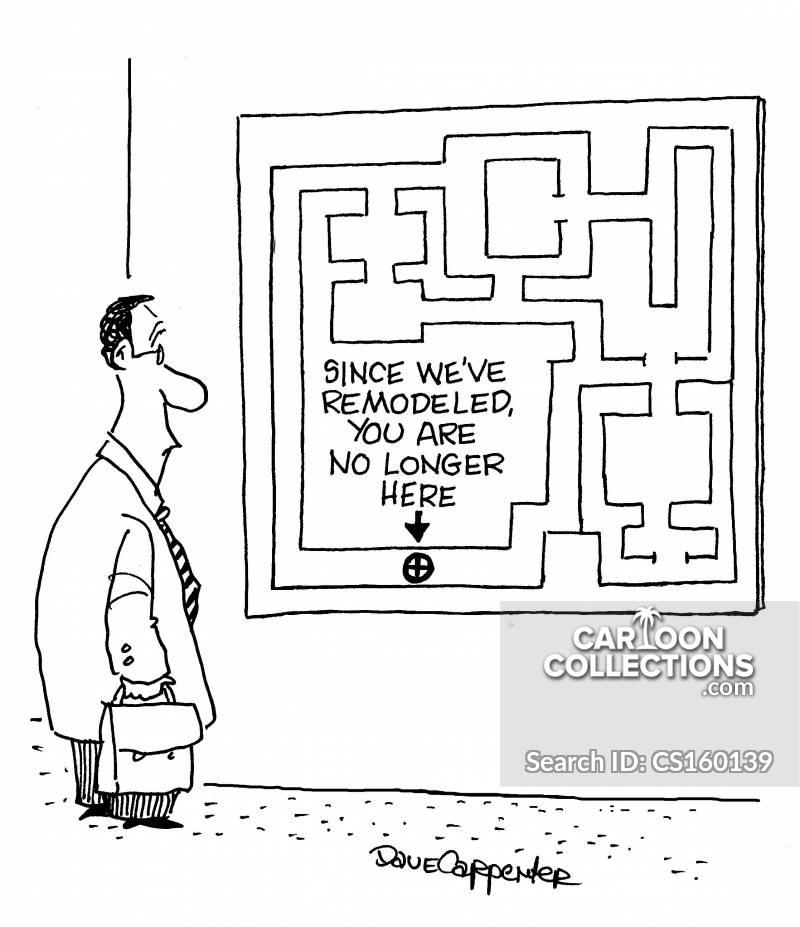 office maps cartoon