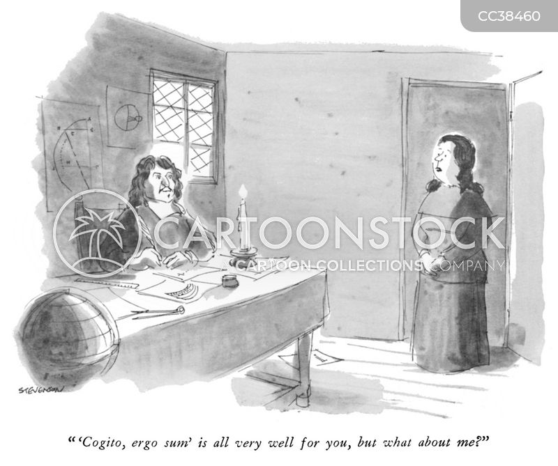 rene descartes cartoon
