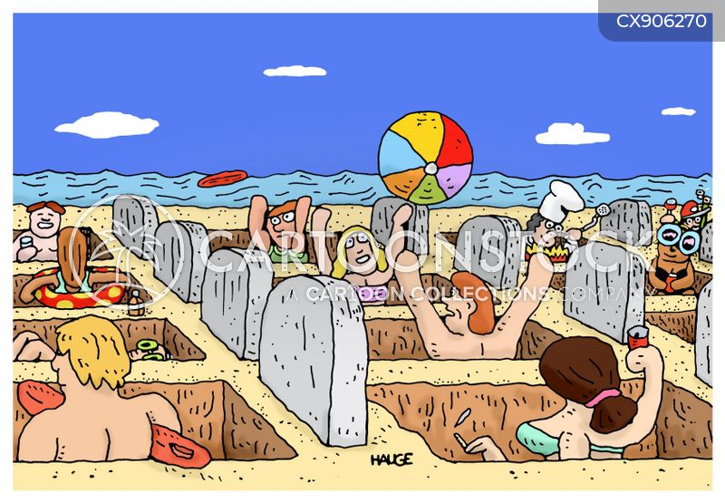 busy beaches cartoon