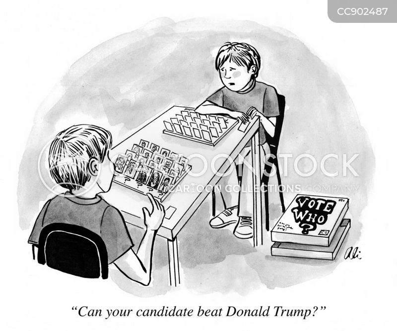 democratic nominee cartoon