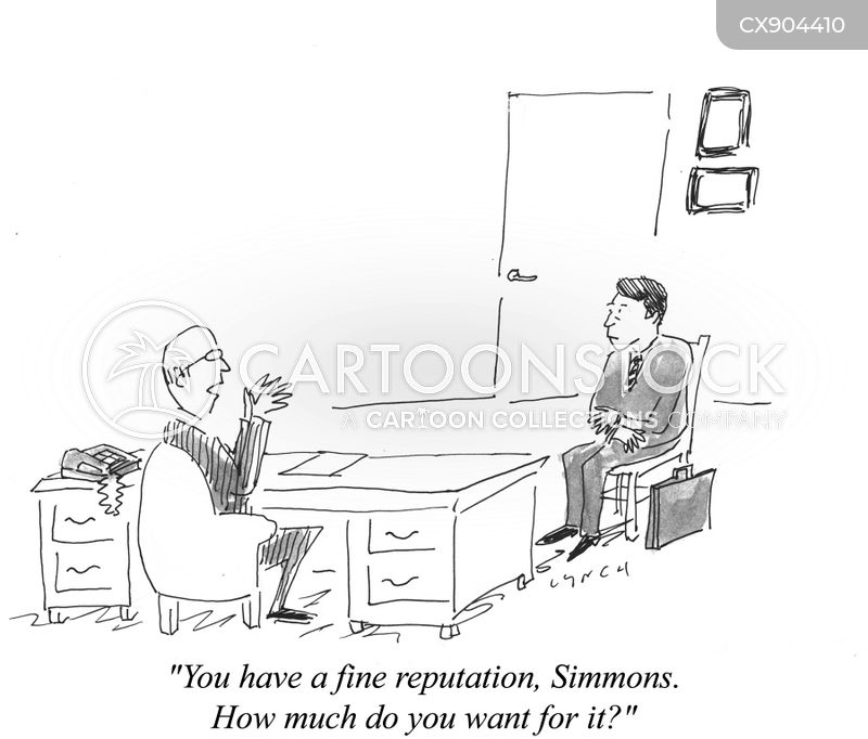 ruined reputation cartoon