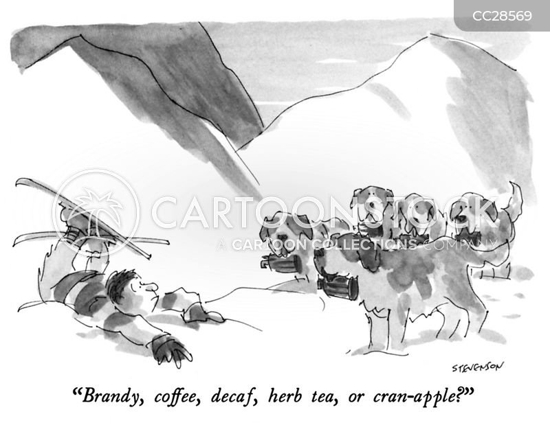 skiing cartoon