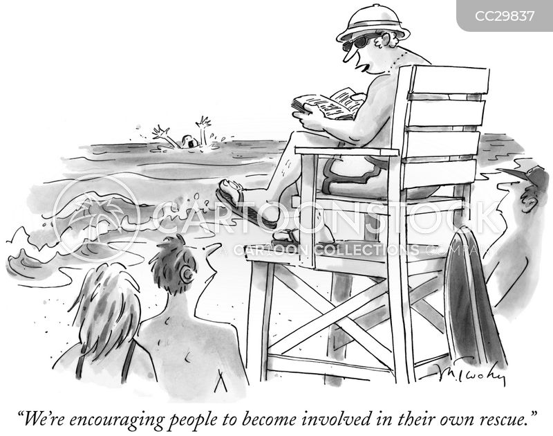 lifeguarding cartoon