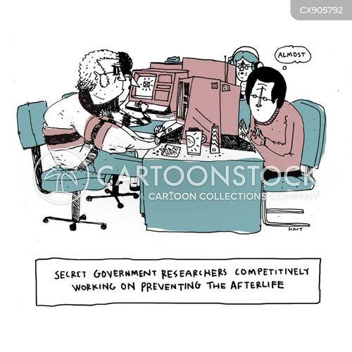 researching cartoon