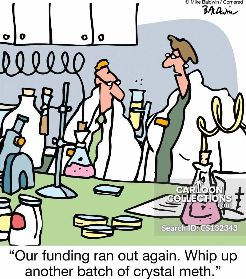 drug labs cartoon